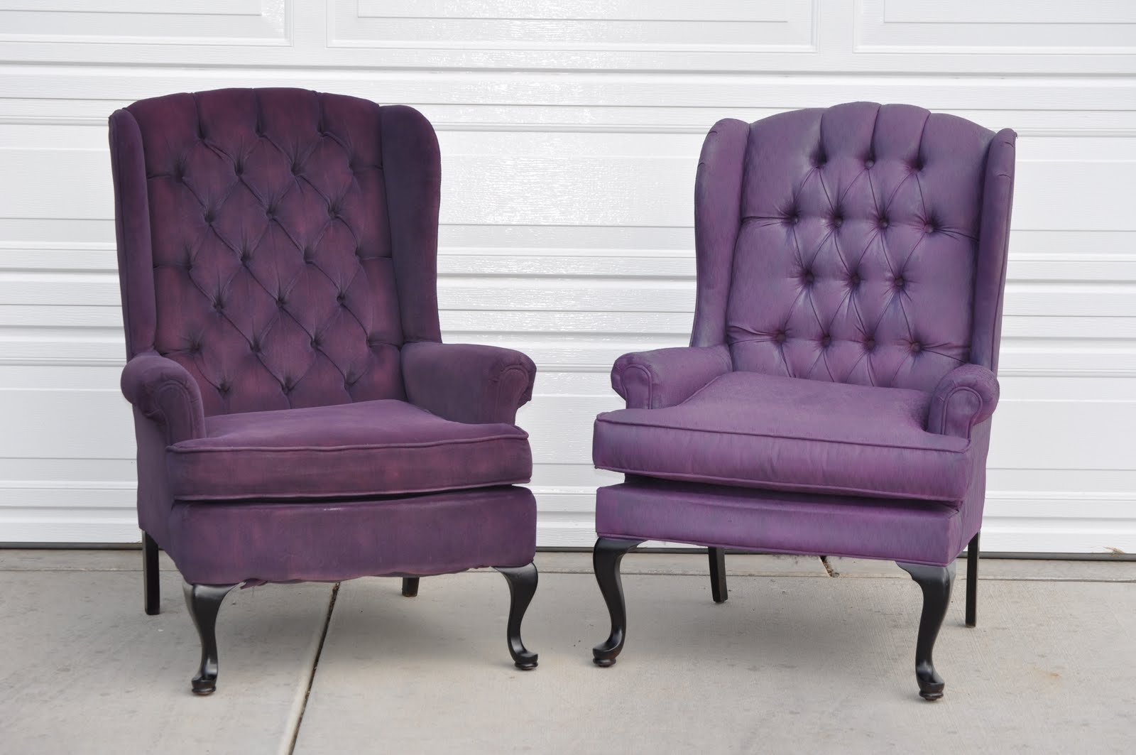 Elegant ... The Fireplace For Halloween (although It Was Fun To Have Them Outside  For A Day, LOL)! So Excited...delicious Purple Tufted Halloween Wingback  Chairs ...