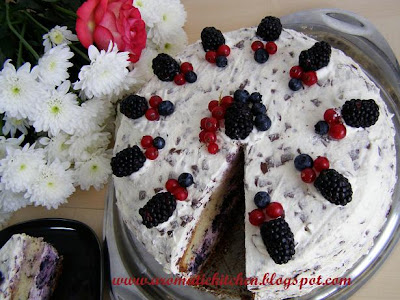 Brombeer -Stracciatella Torte