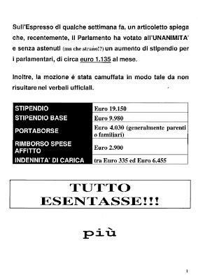 Antibufala classic la saga degli stipendi dei for Numero parlamentari italiani