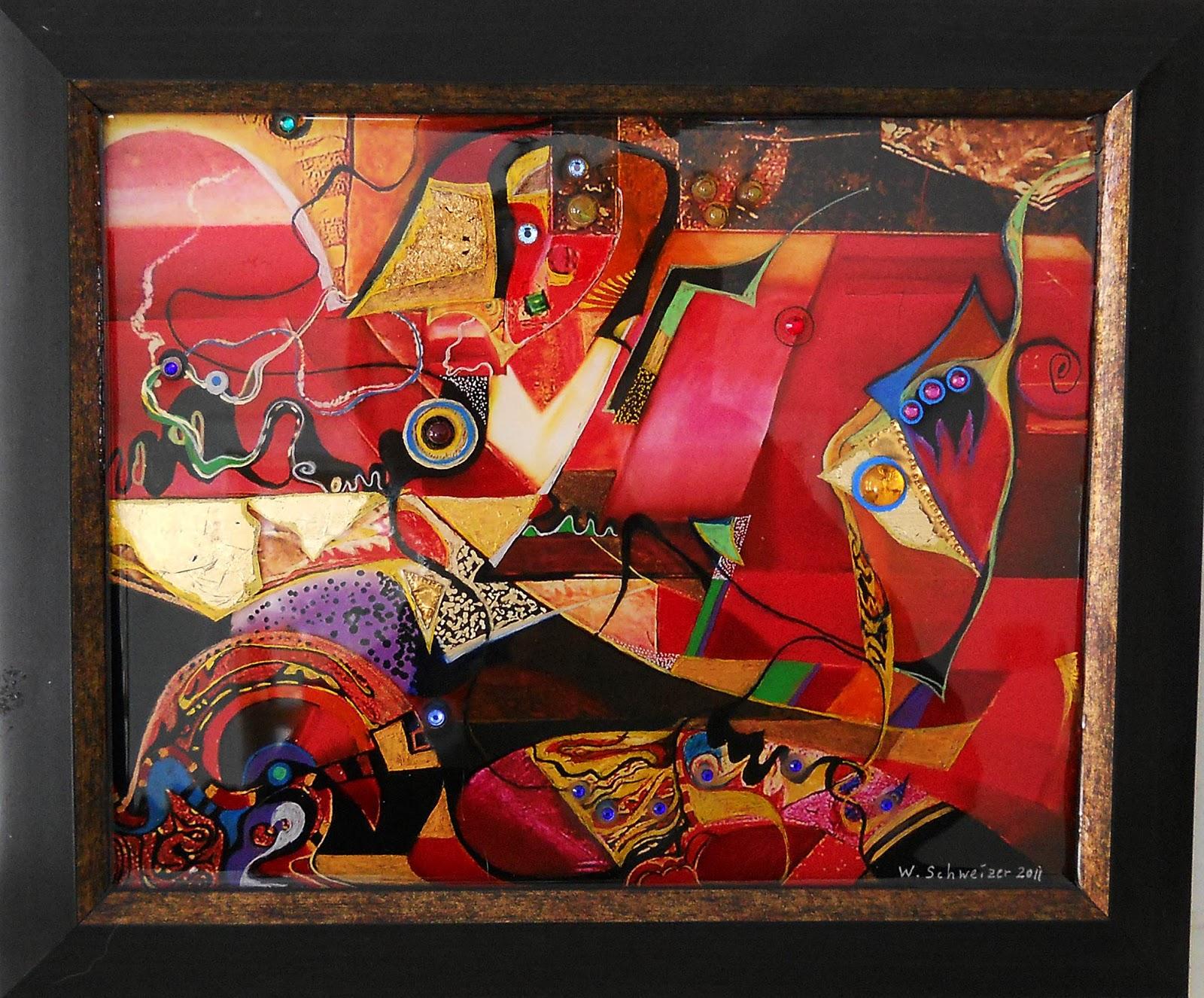 Epoxy Painting Art : Acrylic mixed media and digital paintings el dorado