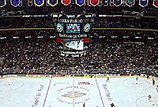 Inside the Xcel for a MN Wild Game