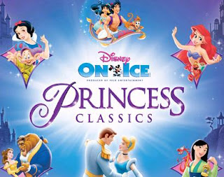 Poster for Disney On Ice Cartoon drawings of the Disney Princess