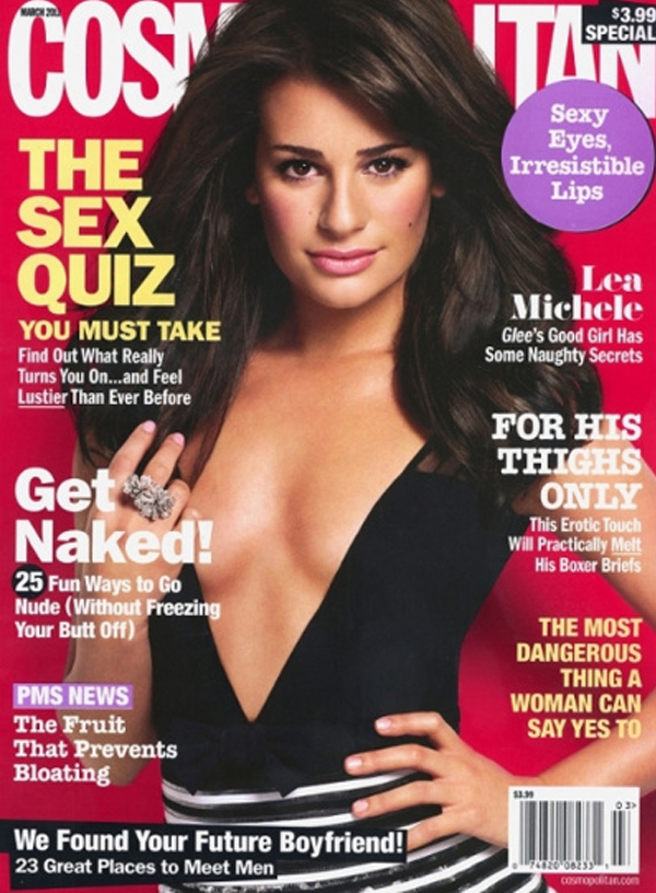 "GLEE's Lea Michele Covers ""COSMO"" Magazine!"