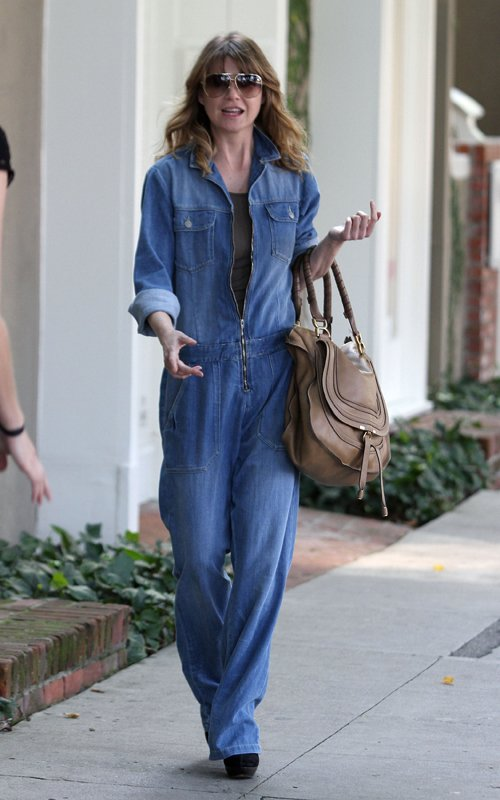 Are We Feeling Ellen Pompeo's Denim Jumpsuit?