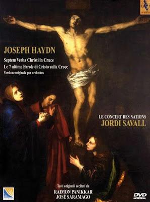 Las Siete palabras de Haydn por Savall en DVD