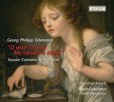 Oberturas y cantatas de Telemann por Ewadl Demeyere en Accent