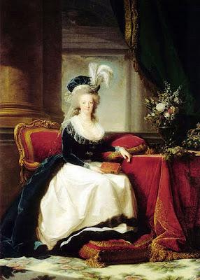 María Antonieta en 1788 retratada al óleo por Élisabeth Vigée-Lebrun