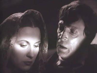 Florencia Bécquer y Julio Rey de las Heras en La Aldea maldita de Florián Rey (1942)