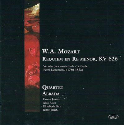 Requiem de Mozart/Lichtenthal por el Quartet Albada