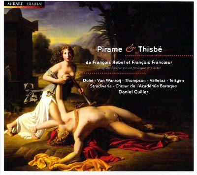 Pirame et Thisbé de Francoeur y Rebel por Cuiller