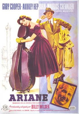 Un cartel de Ariane de Billy Wilder en español (autor desconocido)