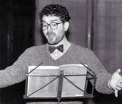 Henri Ledroit durante la grabación del Tamerlano de Haendel