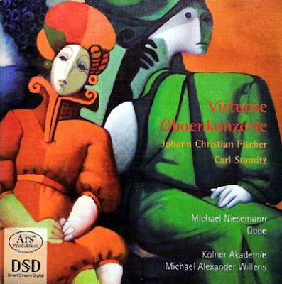 Conciertos para oboe de Fischer y Stamitz por Michel Niesemann y Michael Alexander Willens