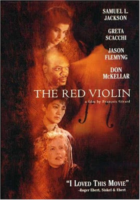 Un cartel de The red violin