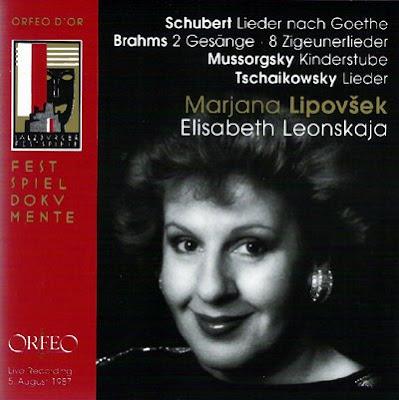 Marjana Lipovsek y Elisabeth leonskaja en el Festival de Salzburgo 1987