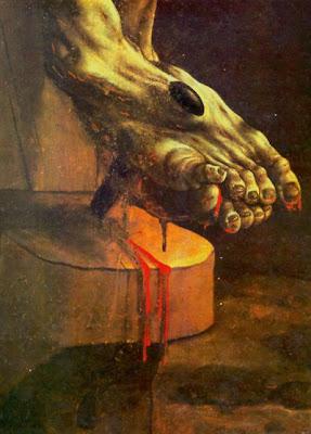 Crucifixión de Matthias Grünewald (detalle)