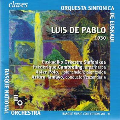 Luis de Pablo en la colección de compositores vascos de la Orquesta Sinfónica de Euskadi para el sello Claves