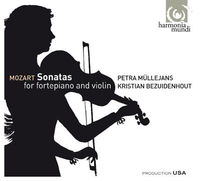 Petra Müllejans y Kristian Bezuidenhout hacen Sonatas de Mozart en Harmonia Mundi