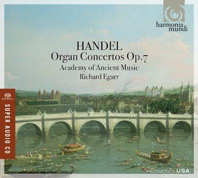 Conciertos para órgano Op.7 de Haendel por Richard Egarr