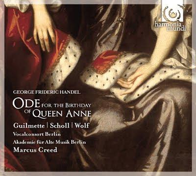 Haendel - Oda a la reina Ana. Andreas Scholl y Marcus Creed