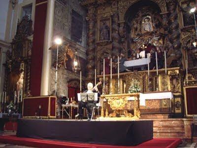 Juan Carlos Rivera en la Iglesia de los Terceros el 17 de octubre de 2009 (© Teresa Sánchez Marcos)