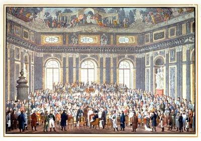 Salieri dirige La Creación enun homenaje a Haydn en Viena el 27 de marzo de 1808 (acuarela de Balthasar Wigand)