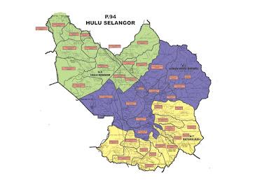 Peta Kawasan P94 Hulu Selangor