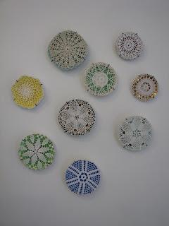 decoração de parede em croché