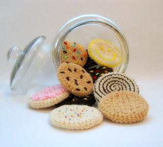 bolachas feitas em croché