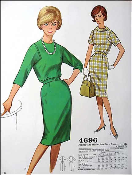 Early 60s fashion dresses