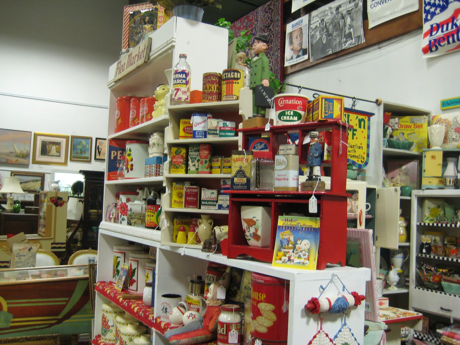 Antique Mall Booth Display Ideas Stacking Works