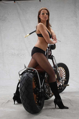 Girl Copper Motorcycle Wallpaper
