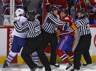 grabovski kostitsyn fight leafs habs