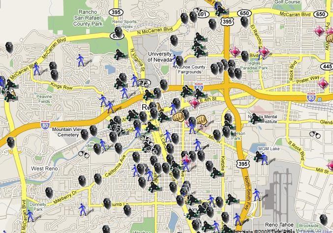 SpotCrime The Publics Crime Map Reno Crime Maps - Street map of reno nv