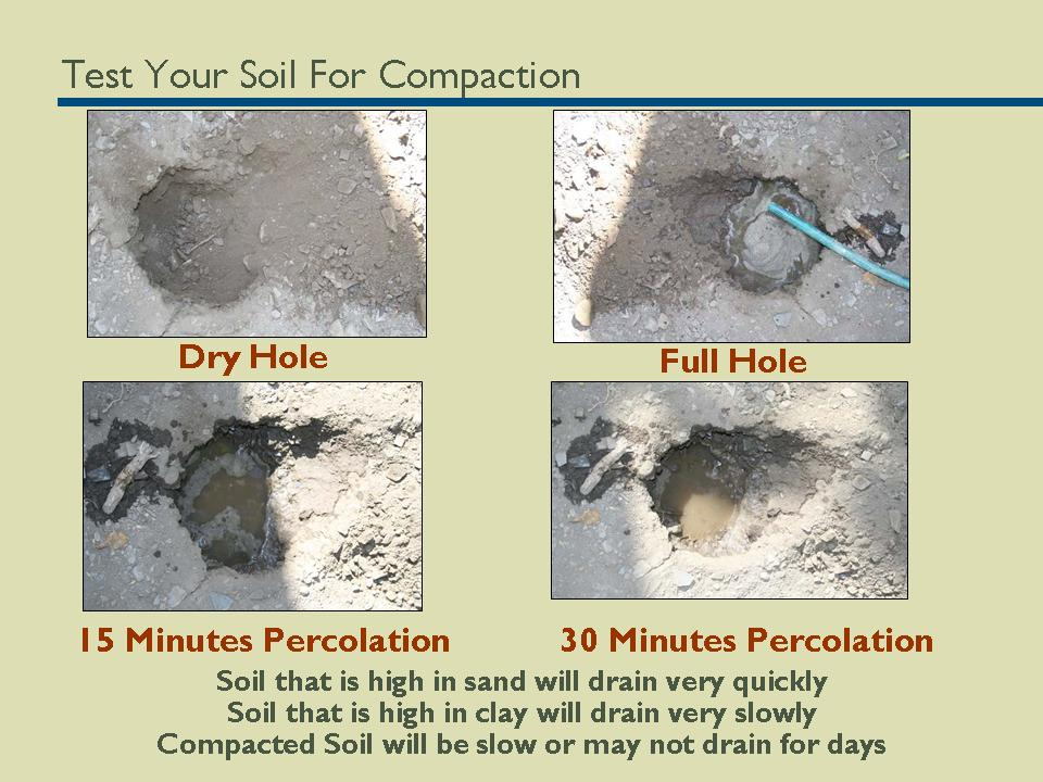 Ocean friendly gardens program soil compaction test for Soil compaction
