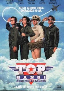 Top Gang: Ases Muito Loucos Sátira ao sucesso Top Gun - Ases Indomáveis, o filme fala sobre um atrapalhado piloto de aviões de caça que deve deter os terroristas ao mesmo tempo que resolve disputas internas contra seu rival de trabalho para ver quem fica com a garota no final