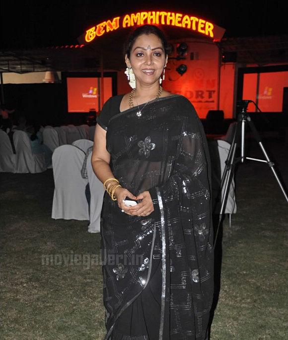Tamil Actress Fathima Babu Hot Transparent Black Saree Stills in Gem