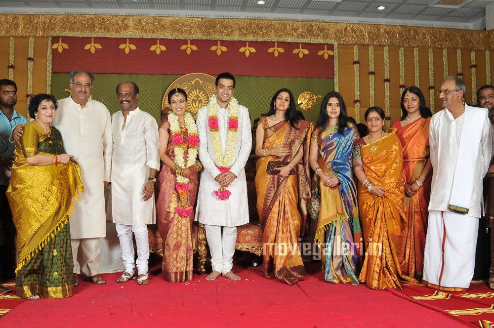 soundarya rajinikanth marriage reception photo gallery