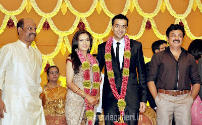Tamil Stars @ Soundarya Rajinikanth wedding reception Stills, Photos