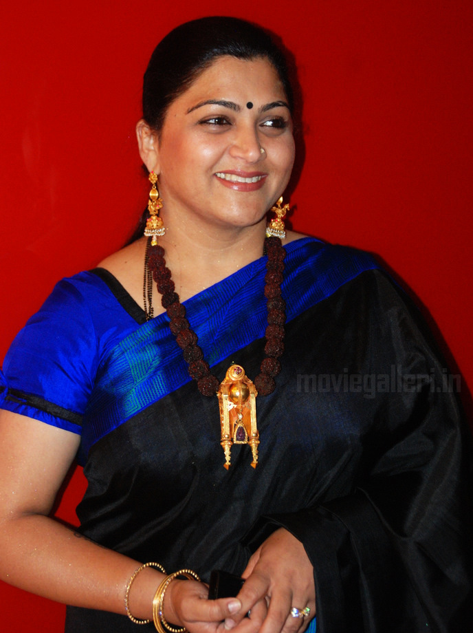 Tamil Actress Khushboo in Saree Stills at Nagaram Marupakkam Audio