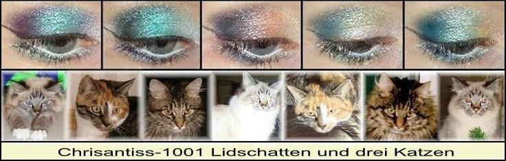 Chrisantiss-1001 Lidschatten und drei Katzen