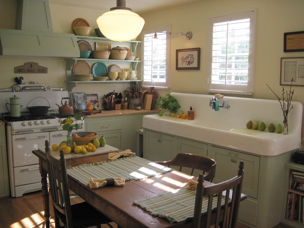 Sharon lovejoy won 39 t you join us for a kitchen visit for Old country style kitchen