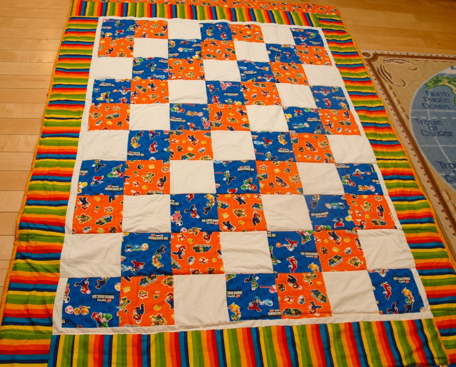 A busy lizzie life: Super Mario Brothers Quilt : mario quilt - Adamdwight.com