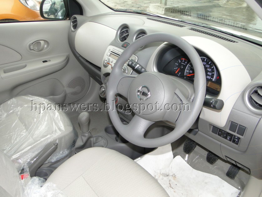 The above picture is the interior view of Nissan Micra Diesel XV variant