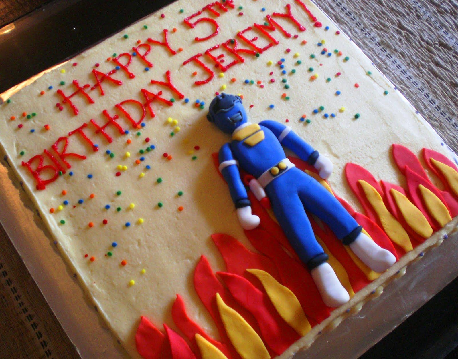 Sugar Rush Power Rangers Birthday Cake