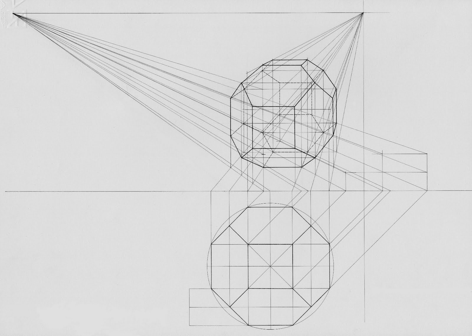 Open door drawing perspective - Here S How Luciano Testoni Drew An Octagon And Extruded It