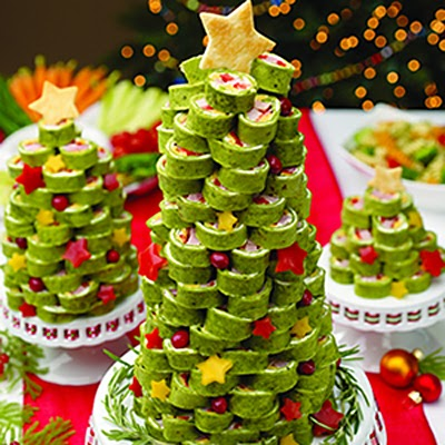 Arbolito de navidad comestible salado (con tortillas)
