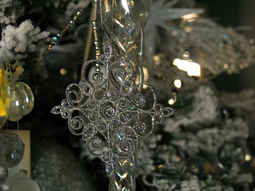 Copo de nieve en filigrana, adorno para el arbolito de Navidad