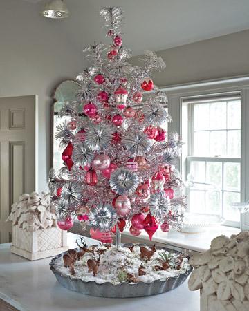 Pompones punteros plateados para el arbol de Navidad (reciclados)