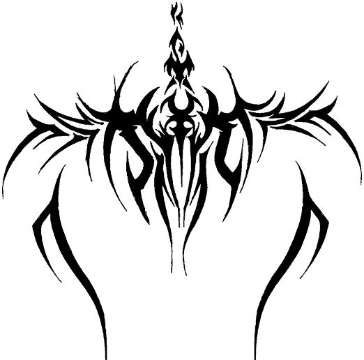 chest tribal tattoo design 04 pictures